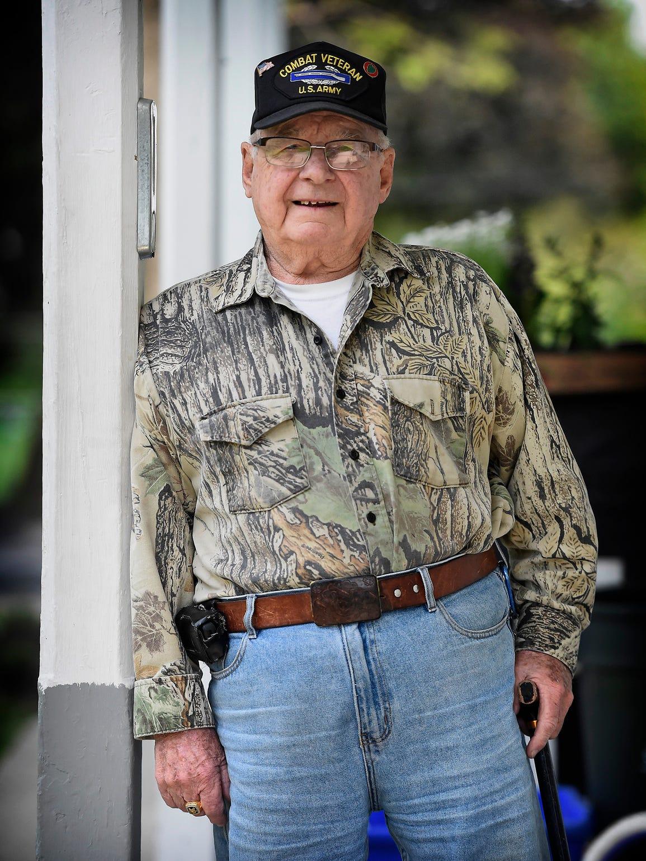 Korean War veteran Vince Bentz, of Annville, was one
