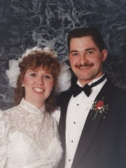 Shelly and Richard Olson on their Leap Day wedding,