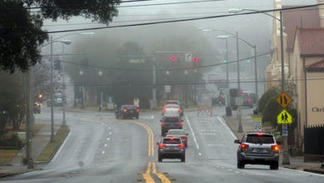 Mornings have been foggy lately in Pensacola.