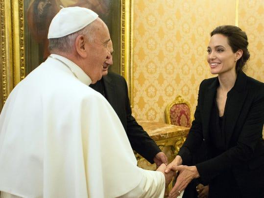 Vatican Pope Angelina Jolie