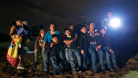 A group of Central Americans caught by the Border Patrol in Texas.