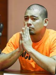 Suspect Jaycee Aaron White listens as the prosecutor