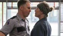 Officer Dixon (Sam Rockwell, left) and Mildred (Frances