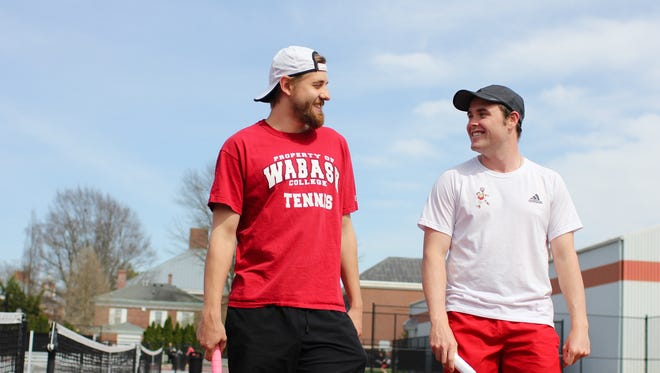 Wabash tennis players Patrick McAuley and William Reifeis are heading to the DIII National Championships after playing together at North Central.