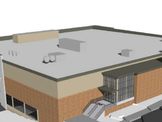 A view of the planned grocery store building planned