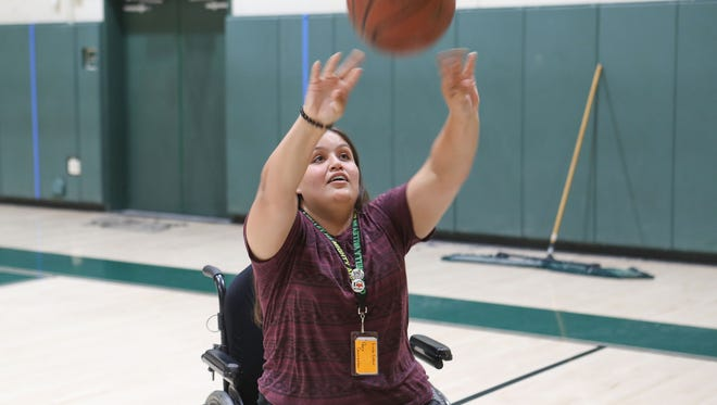 Despite having limited use of her lower body because she was born with spina bifida, Clara Garcia of Coachella Valley High School has not let that stop her from being a part of the basketball program.