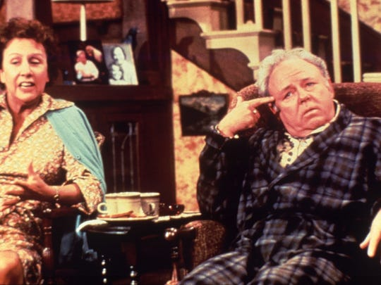 "Jean Stapleton and Carroll O'Connor star in ""All in the Family."""