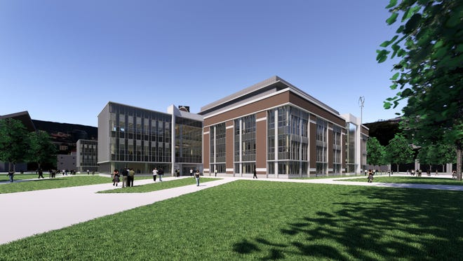 Construction of Michigan State University's new STEM Teaching and Learning Facility is expected to begin in August. The project, shown in this rendering, will include the addition of 117,000 square feet of space to the former Shaw Lane Powe Plant plus the renovation the 40,000 square foot facility.