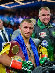 Vasiliy Lomachenko will fight Anthony Crolla on April 12 at Staples Center.