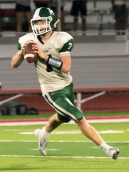 Chapman quarterback Trevor Erickson had a huge game in leading the Irish to a 32-29 win over Sabetha, accounting for five touchdowns. He ran for 125 yards, threw for 119 yards and returned a kickoff for a score, while also making 18 tackles and two pass breakups.