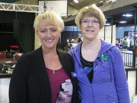 Keri Goforth aand Bonnie Betts, both of Redding, attend