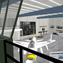 An architect's rendering of a new exhibition hangar proposed for the Palm Springs Air Museum.