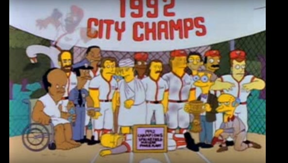 "The final image from ""Homer at the Bat,"" the classic"