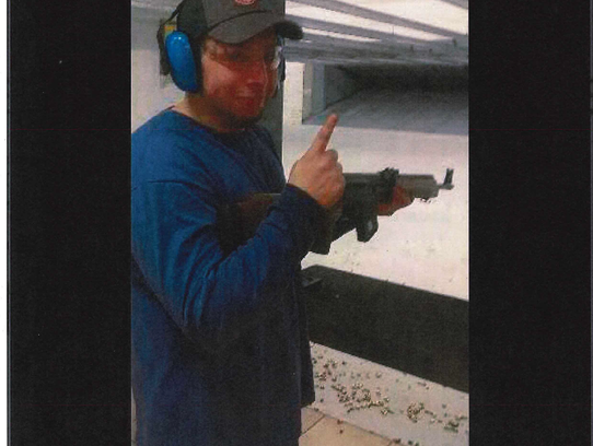 Khalil Abu-Rayyan, of Dearborn Heights, at a shooting