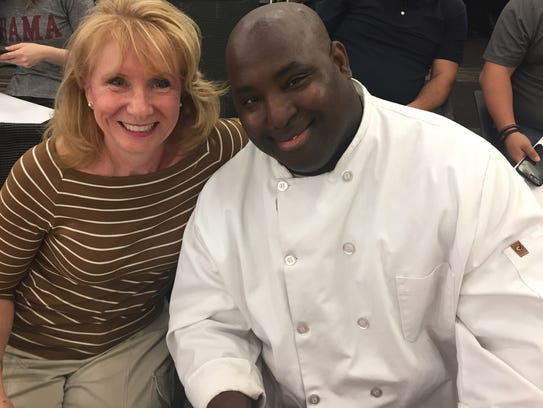 Brenda Leonard, owner, and Chuck Huckleby, chef, from