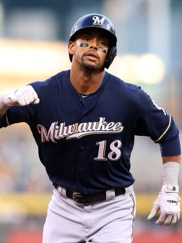 The Milwaukee Brewers have traded outfielder Khris