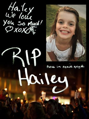 People who attended the funeral of Hailey Owens, wrote messages to the 10-year-old Springfield, Mo., girl who was abducted and slain Feb. 18, 2014.