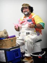 Huffy the Clown - actually Wayne Hoffman - demonstrates