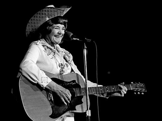 Western music star Patsy Montana of the old National