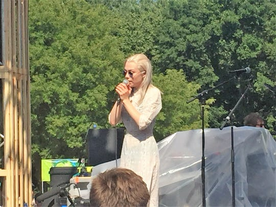 Folk singer Phoebe Bridgers sings at Eaux Claires on