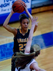 York Catholic's Jania Wright will likely have to pick the scoring slack early this season when the Fighting Irish's leading returning scorer, Kate Bauhof, will be out with a knee injury. Wright averaged 8.1 points per game last season.