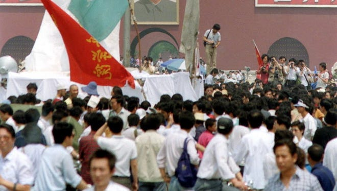 Tiananmen Square in May 1989.