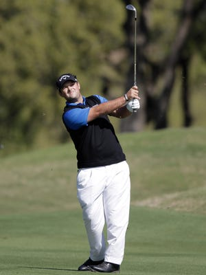 Mar 24, 2016; Austin, TX, USA; Patrick Reed of the United States during the second round of the during the second round of the World Golf Championship-Dell Match Play at the Austin Country Club. Mandatory Credit: Erich Schlegel-USA TODAY Sports