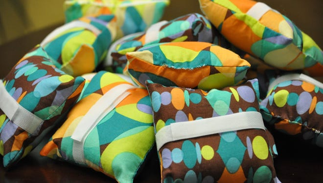 """Pillows donated to the Rapides Cancer Center for the """"Patient Pillow"""" Project."""