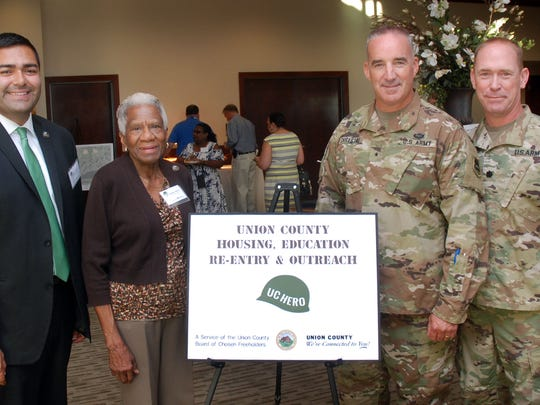 Union County Freeholder Vice Chairman Sergio Granados and Freeholder Vernell Wright joined Brig. Gen. Ed Chrystal and Lt. Col. Bill Morris at the UC HERO networking mixer at the Clubhouse at Union County's Galloping Hill Golf Course in Kenilworth. For more information about all UC HERO programs and activities, and the Union County Office of Veterans' Affairs, visit ucnj.org/uc-hero.