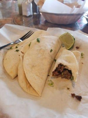 Carne asada tacos from La Hacienda.