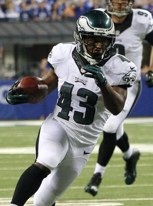 Darren Sproles leads the Eagles with 11 catches for 166 yards.