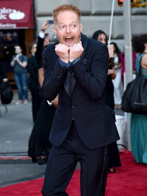 Actor Jesse Tyler Ferguson arrives at 2016 Tony Awards
