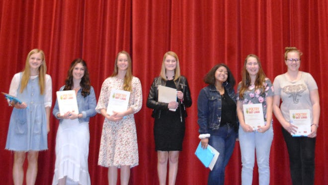 Southern Utah Poetry Out Loud contestants.