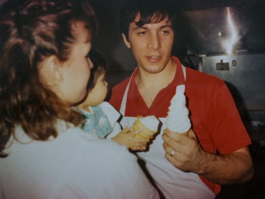 Lou Toarmina, back in the mid-1980s, with wife Gina