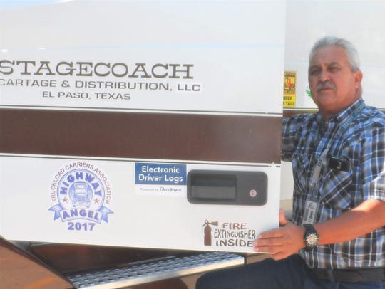 Adrian Parada, a truck driver for Stagecoach Cartage