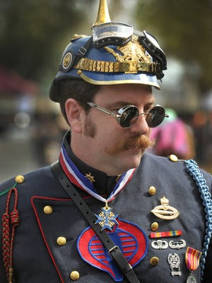 James Denton, of Garden Grove, dressed as the Cobra Commander, attends the 2016 Steampunk Fest at Heritage Square in Oxnard. This year's event is Oct. 13 and 14.