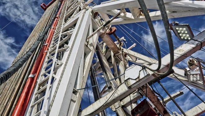 Close-up image of a fracking rig.