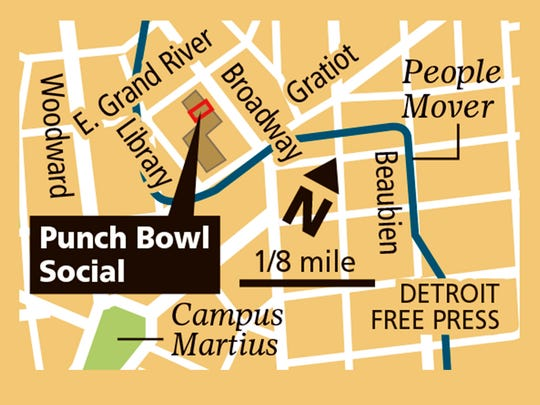 The Punch Bowl Social in Detroit is opening for business.