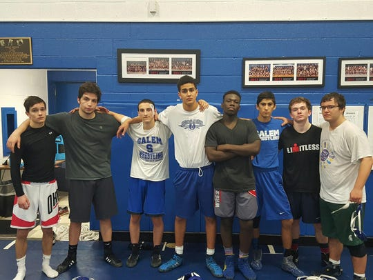 Salem's varsity wrestling team has a strong group of