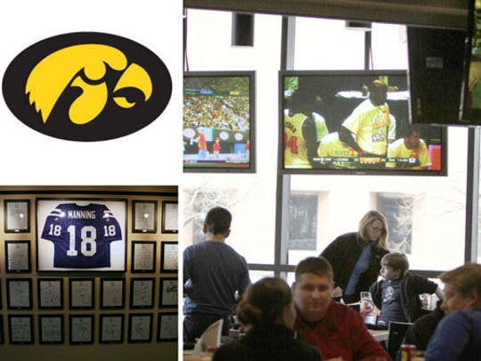 Iowa fans are headquartered at the Indianapolis Colts Grille, 110 W. Washington St.