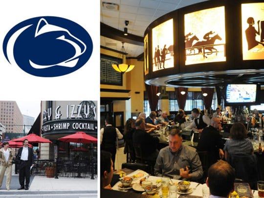 Penn State fans are rallying at Harry & Izzy's, 153 S. Illinois Street.