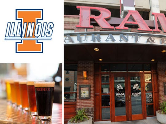 Illinois fans are heading over to Ram Restaurant & Brewery, 140 S. Illinois Street.
