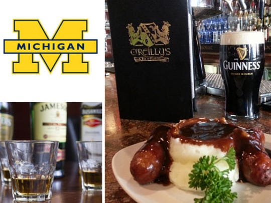 Michigan fans are bringing their spirit to O'Reilly's Irish Bar & Restaurant, 36 S. Pennsylvania Street.