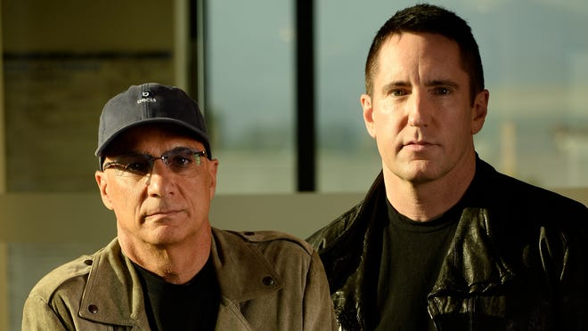 From left: Jimmy Iovine and Trent Reznor of Beats Music.
