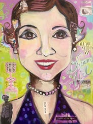 """""""Dream Girl"""" by Jenny Odom, on display at the Artport"""