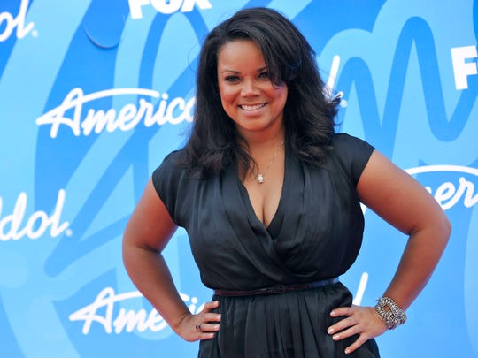 """FILE - In this May 16, 2013, file photo, former contestant Kimberley Locke arrives at the """"American Idol"""" finale in Los Angeles."""