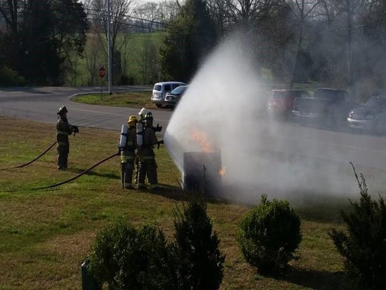 Montgomery County volunteer firefighters learn how