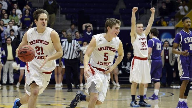 Brentwood Academy celebrates last year's DII-AA championship win over Christian Brothers.