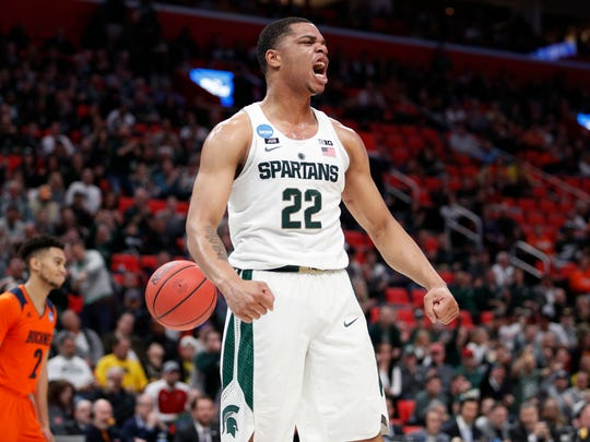 10. 76ers (52-30, via Lakers): F Miles Bridges, 6-7, 230, Michigan State