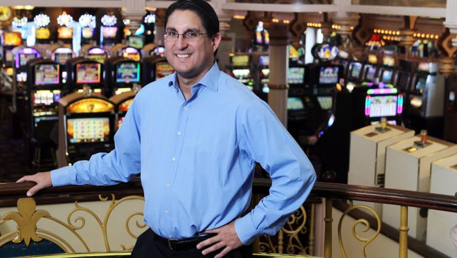 Steve Jimenez, general manager of Rising Star Casino, Rising Sun, Indiana, in the casino.